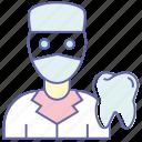 dental surgeon, dentist, medical surgeon, stomatology, teeth surgeon, tooth surgeon icon