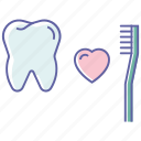 dental care, dental cleaning, dentist, healthcare, tooth brushing, tooth cleaning icon