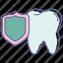 dental aid, dental protection, dentist, healthcare, medical aid, teeth protection icon