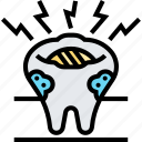 decayed, tooth, problem, ache, oral icon