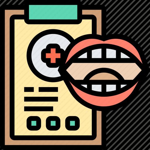 Dental, report, prescription, diagnosis, document icon - Download on Iconfinder
