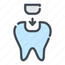 dental, dentist, dentistry, filling, implant, teeth, tooth icon