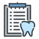 clipboard, dental, dentist, dentistry, denture, teeth, tooth icon