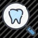 dental, dentist, dentistry, find, search, teeth, tooth icon