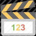 cinema, clapboard, clapper, movie, multimedia