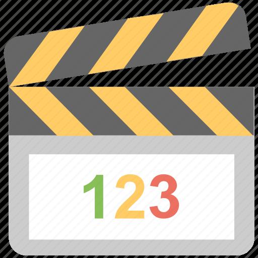 cinema, clapboard, clapper, movie, multimedia icon