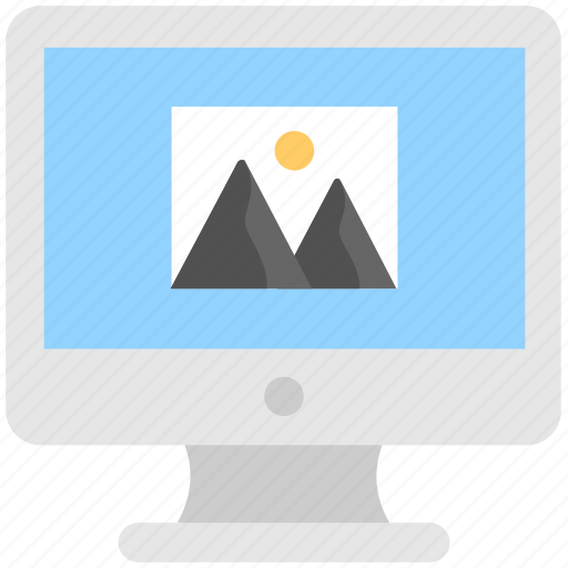background, desktop, monitor, wallpaper, web design icon