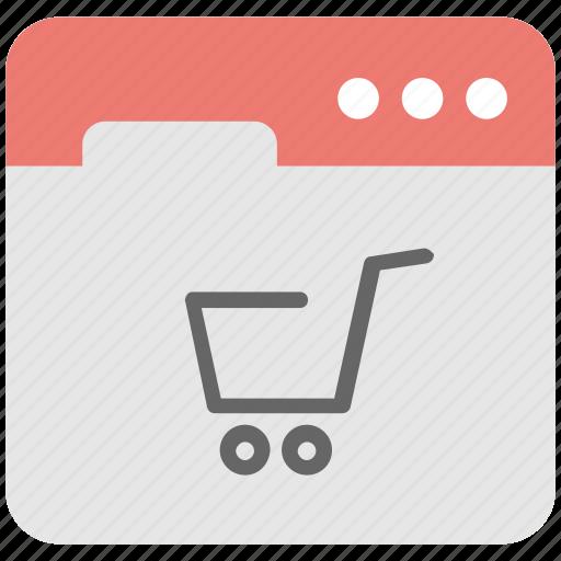 ecommerce, shopping, trolley cart, web icon
