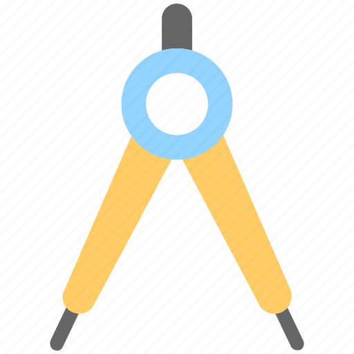 compass, divider, drafting, geometry, tool icon