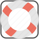 floating, life belt, life ring, safety, support icon