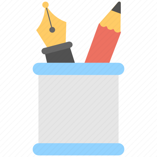 geometry, pen, pencil, pencil case, stationery icon