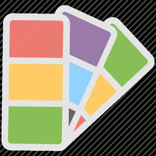 catalogue, colors chart, paint swatch, palette, pantone icon