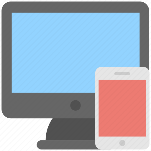adaptive, devices, mobile, monitor, responsive icon