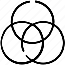 circle, design, desing, equipment, shape, snap, tool icon