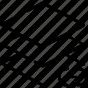 delete, design, graphic, layer, remove, shape, tool icon
