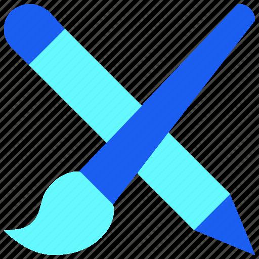 Brush, color, desain, design, pen, stationary, tool icon - Download on Iconfinder