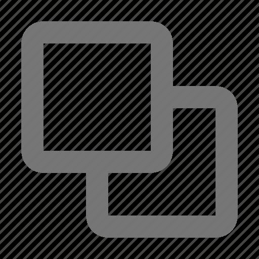 boxes, create, design, overlap, squares, tool, unite icon