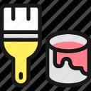 color, bucket, brush