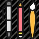 design, tool, pens