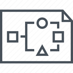chart, flowchart, organization, scheme, template, wire frame icon
