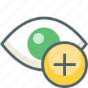 add, eye icon