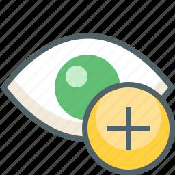 add, eye icon