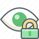 eye, lock icon