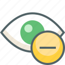 eye, remove icon
