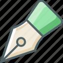nib, pen icon
