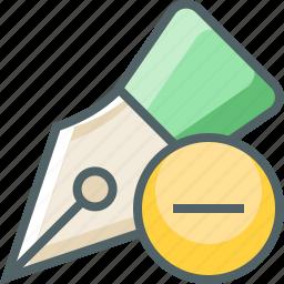 nib, pen, remove icon