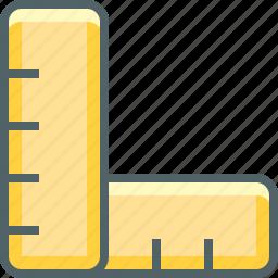 pencil, set, square icon