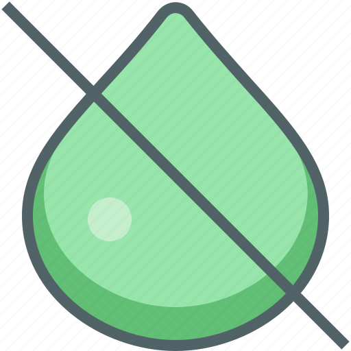 cancle, drop, water icon