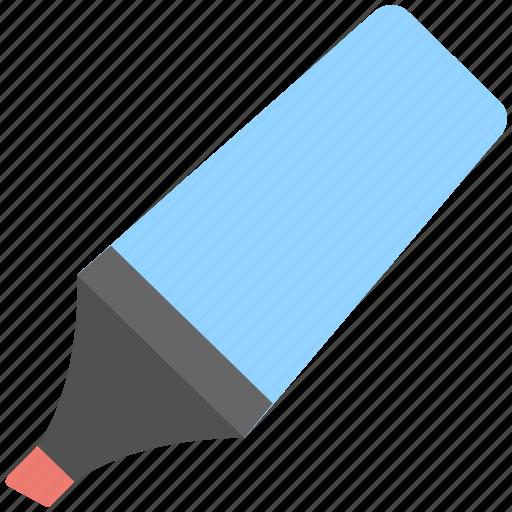 highlighter, marker, pen, stationery, underline icon