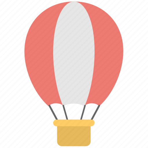 air balloon, fly, parachute, transport, travel icon