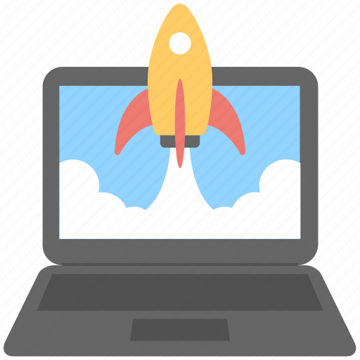 launch, pc, rocket, startup, takeoff icon