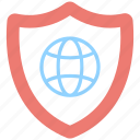 antivirus, globe, internet security, protection, shield icon