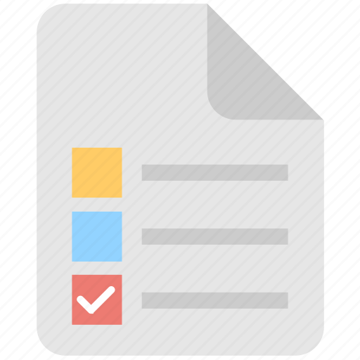 checklist, document, list, plan, task icon