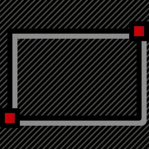cad, colour, design, rectangle, ultra icon