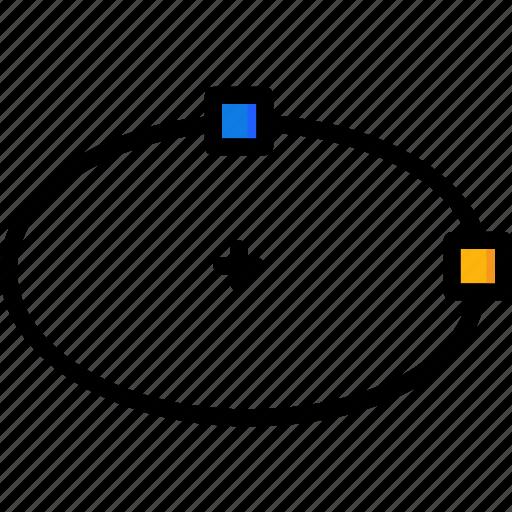cad, colour, design, ellipse, ultra icon