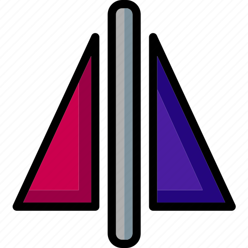 cad, colour, design, mirror, ultra icon