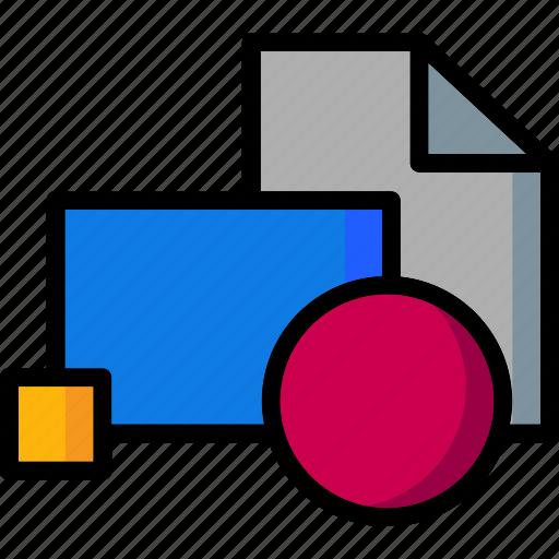 block, cad, colour, design, insert, ultra icon