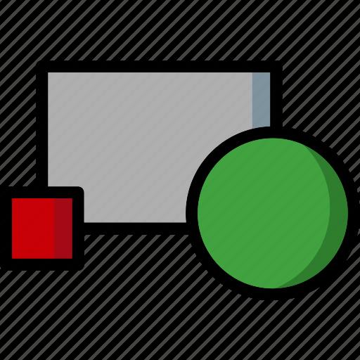 block, cad, colour, create, design, ultra icon