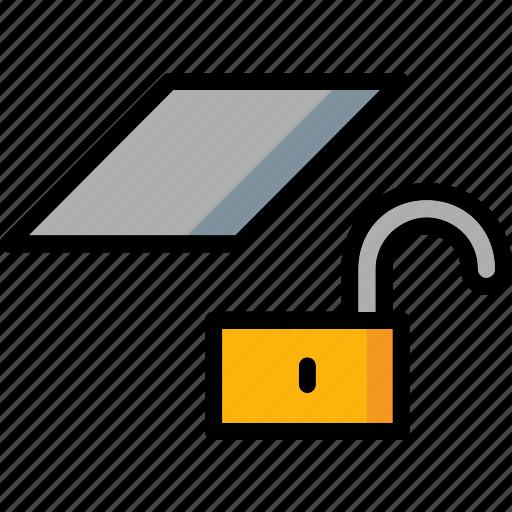 cad, colour, design, layer, ultra, unlock icon