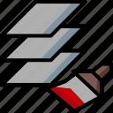 cad, colour, design, layer, match, ultra icon