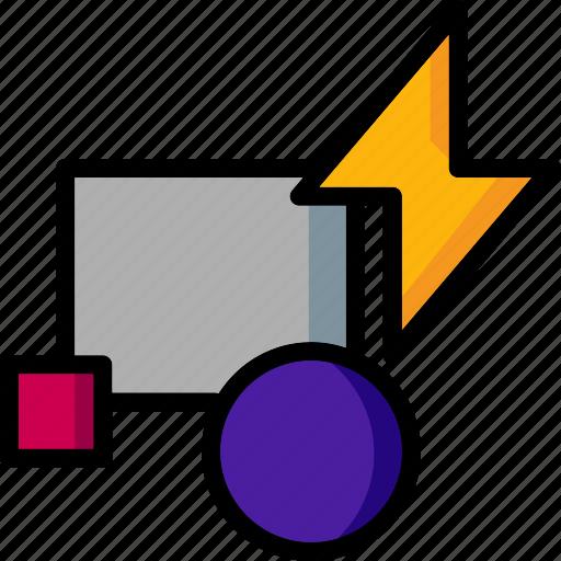 block, cad, colour, design, edit, ultra icon