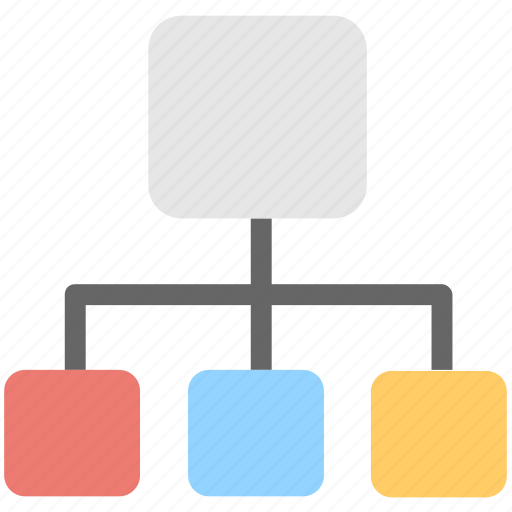 hierarchy, networking, sitemap, topology, workflow icon