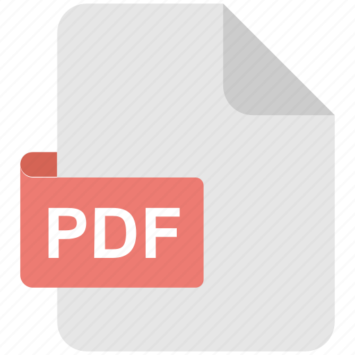document, extension, file, filetype, pdf icon