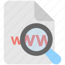 browsing, internet, magnifier, searching, www icon