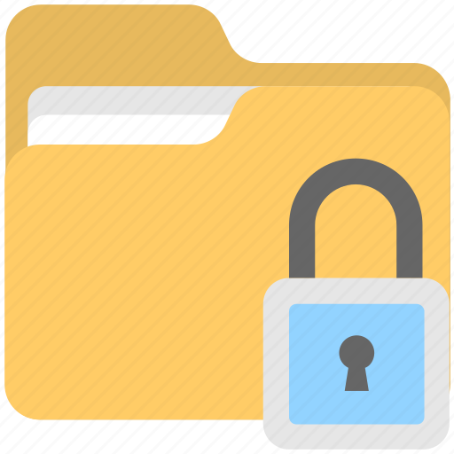 archives, data security, folder, folder security, lock icon