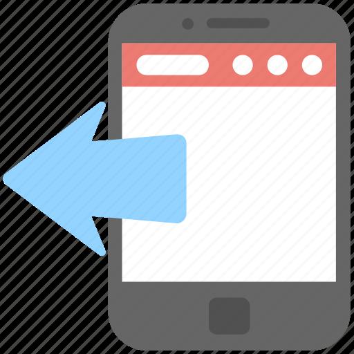 arrow, data share, mobile, smartphone, transfer icon